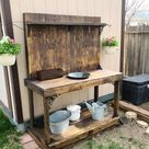 Potting Bench With Lights Water Station Potting Benches | Etsy