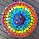 Rainbow birdbath mosaic kit. Workshop in a box. Rainbow, lockdown, pride, chakra. Homemade. Colourfu