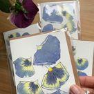 Hammered petals cards