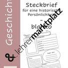 Steckbrief - blanko - historische Persönlichkeiten (pdf/pptx)