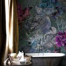 Badezimmer Renovieren mit Tapete und ohne Fliesen - Trebes Raumausstattung und Inneneinrichtung
