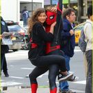 Tom Holland Dons 'Spider-Man: Far From Home' Costume While Filming With Zendaya in NYC | tom holland dons spider man far from home costume while filming with zendaya in nyc203 - Photo