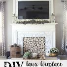 DIY Faux Fireplace for Under $600 - The Big Reveal