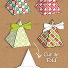 Christmas pyramid gift box