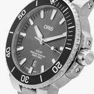 Oris 01 733 7730 7153-07 8 24 15PEB Men's Aquis Automatic Date Titanium Bracelet Strap Watch, Silver/Grey