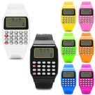 Generico Electronic Calculator Child Watch Kid Silicone Date Time BL