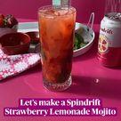 Let's make a Spindrift Strawberry Lemonade Mojito