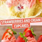 Strawberries and Cream Cupcakes Recipe | The Best Strawberry Dessert