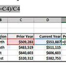 Ready To Use Excel Formulas  how to Calculate Percent Variance
