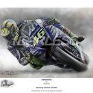 Valentino Rossi  Victory Down Under  Ltd edition giclee fine art print 246 copies. - 21 x 30cm