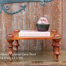 Dutch Colonial Cane Stool,Petite Stool,Cane Stool,Farmhouse Petite Ottoman,Rustic Plant Stand,Charming Plant Stand,Small PiddaStool,lowtable