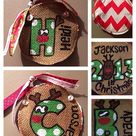 Burlap Christmas Ornaments