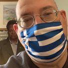 Greek Flag Covid Face Mask