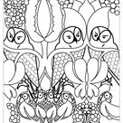 Cute owls - Owls Coloring Pages for Adults - Just Color
