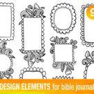 17 PRINTABLE TEMPLATES for bible journaling verse art | Etsy