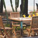 Teak und Edelstahl - perfekt kombiniert  #teakholz #gartenmöbel #garden #teak #wood #stainless #steel #stühle #massiv #design #furniture #solid #terasse #balkon #tisch #ausziehbar #klappbar #foldable #chair