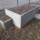 Hochbeet selber bauen aus Betonplatten