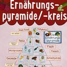Tafelmaterial Ernährungspyramide / -kreis mit über 50 Bildkarten von Lebensmitteln