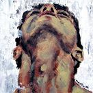 HOMOEROTIC gay male man body nude neck adams apple ORIGINAL art painting nudes gay muscle naked standing neck adam's apple abstract face