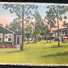 Vintage Staff House and Cabins at Camp Rawls, Wagner South Carolina Postcard