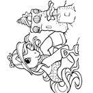 Coloriage Petit poney faisant un château de sable - Mon Petit Poney
