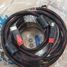 High Quality HDMI Cable 50Ft Gold Head Net Jacket For HD TV PC CONSOLES