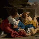 Orazio Gentileschi, 1622   Lot and his Daughters   fine art print   Canvas print / 120x100cm   47x39