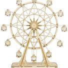 3D DIY Wooden Ferris Wheel - wood