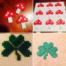Kleine Bastelidee für Silvester – Glückspilze und Kleeblätter aus Bügelperlen