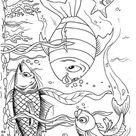 Kleurplaat vissen. Gratis kleurplaten om te printen