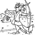 Robin Hood Bulls Eye The Hard Target Coloring Pages