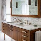 Pretty Colored Bathroom Vanity Ideas to Beautify Your Bathroom