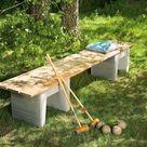 Upcycling Gartenbank Schnell selbst gebaut aus Holzdielen   so geht's