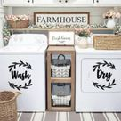 Laundry Room Decor  Washer and Dryer Vinyl Decal Set  Wash   Etsy