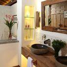Holz Interior fürs Badezimmer