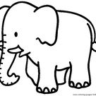 Big Elephant color page