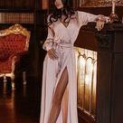 Rust color satin bridesmaid dress, wedding dress, bridesmaid dresses, custom dress, long dress, wrapdress, wrapdresses, summer dress