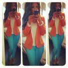 Turquoise Pants