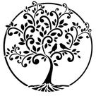 "Schablone ""Baum des Lebens"" DIN A4"
