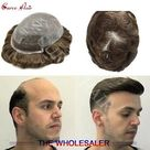eBay Swiss Lace Front Toupee Hairpiece Straight Human Hair Replacement System for Men