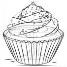 How to draw a cupcake   Step by step Drawing tutorials