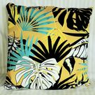 Yellow Tropical Palm Leaves Modern Decorative Pillow Covers Pillowcase 40x40cm+ Zippered