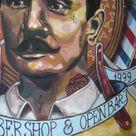 mural salón berlin (Palermo) bs. as....  realizado por elmarian & pablokno