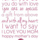 Poems For Mothers Day