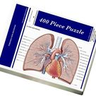 Pulmonary veins and arteries. 400 Piece Puzzle. Pulmonary veins and arteries.