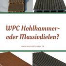 Unterschiede zwischen WPC Hohlkammerdielen und WPC Massivdielen.