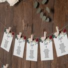 Wedding seating chart cards template 4x6 5x7 Downloadable   Etsy