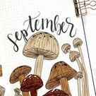 20 Best Mushroom Themed Bullet Journal Spreads - Crazy Laura