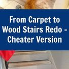 Quick and Easy From Carpet Stairs to Wood - DIY Hack