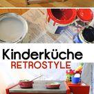 Retroherd für die Kinderküche bauen: Unser Ferien-Upcycling-DIY-Projekt - Erbsenprinzessin Blog